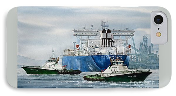 Refinery Tanker Escort IPhone Case by James Williamson