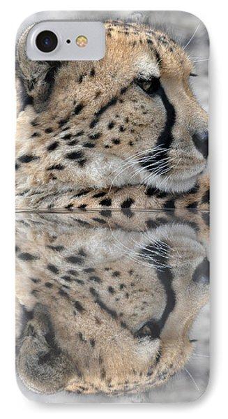 Reflected Cheetah IPhone Case by Teresa Blanton
