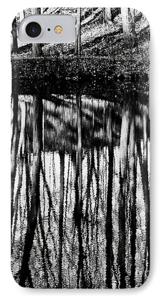 Reflected Landscape Patterns IPhone Case by Carol F Austin