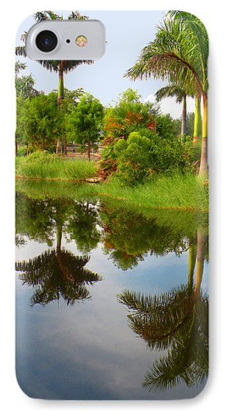 Reflected Palms IPhone Case by Rosalie Scanlon
