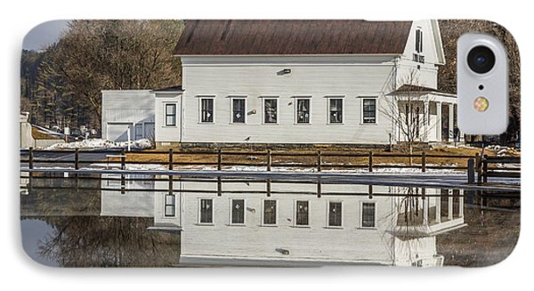 Reflected Town House IPhone Case by Tim Kirchoff