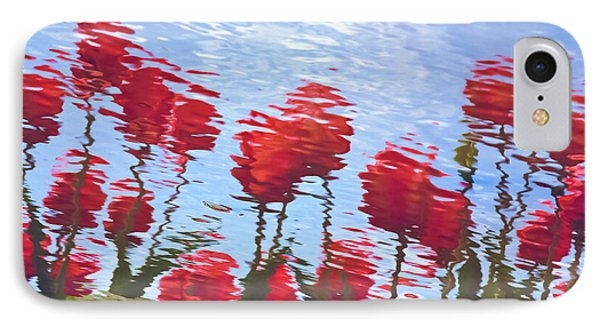 IPhone Case featuring the photograph Reflected Tulips by Tom Vaughan