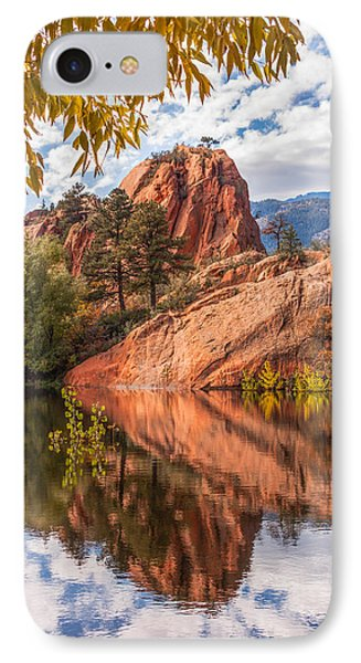 IPhone Case featuring the photograph Reflecting At Red Rocks Open Space by Christina Lihani