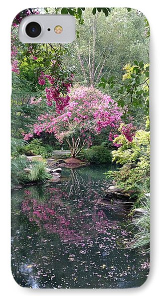 IPhone Case featuring the photograph Reflecting Crape-myrtles by Linda Geiger