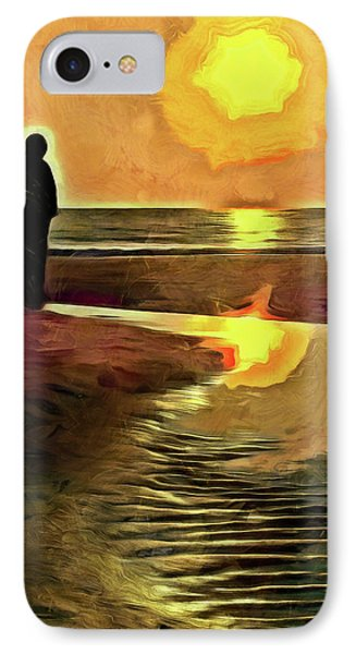 Reflecting On The Day IPhone Case by Trish Tritz