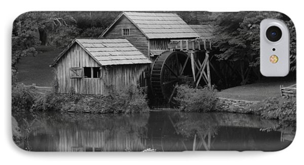Reflecting The Mill IPhone Case by Eric Liller