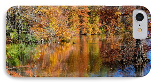 Reflected Fall Foliage IPhone Case by Allan Levin