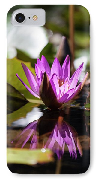 IPhone Case featuring the photograph Reflection In Fuchsia by Suzanne Gaff