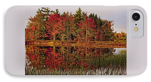 IPhone Case featuring the photograph Reflection Island by Kathleen Sartoris
