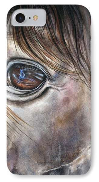 Reflection Of A Painted Pony Phone Case by Mary McCullah