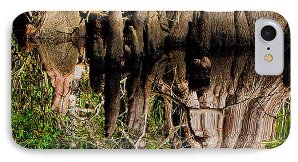 Reflection Of Cypress Knees IPhone Case by Barbara Bowen
