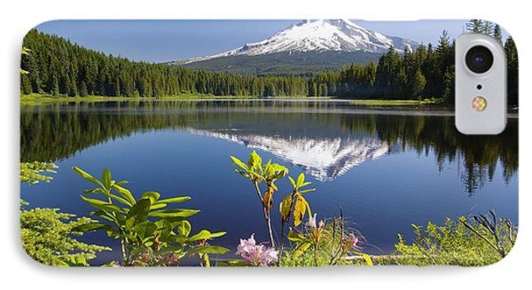 Reflection Of Mount Hood In Trillium Phone Case by Craig Tuttle