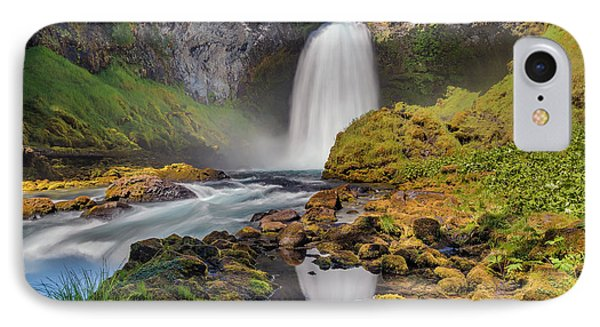 Reflection Of Sahalie Falls Phone Case by David Gn