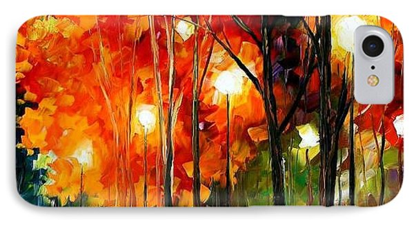 Reflection Of The Night  Phone Case by Leonid Afremov