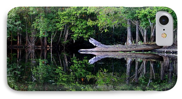 Reflection Off The Withlacoochee River Phone Case by Barbara Bowen