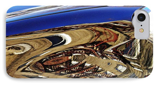 Reflection On A Parked Car 11 Phone Case by Sarah Loft