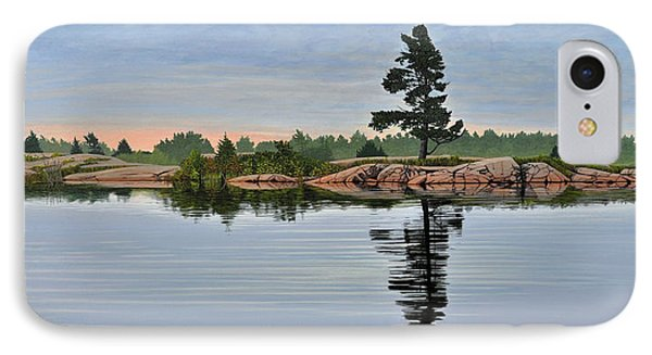 IPhone Case featuring the painting Reflection On The Bay by Kenneth M Kirsch