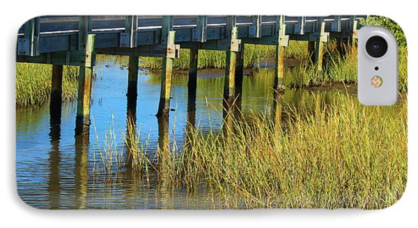 Reflections And Sea Grass IPhone Case by Roena King