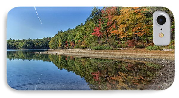 Reflections At Walden Pond IPhone Case by Brian MacLean