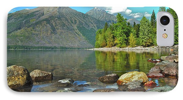 Reflections Glacier National Park  Phone Case by Michael Peychich