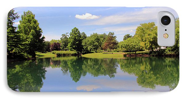 Reflections In A Pond IPhone Case by Angela Murdock