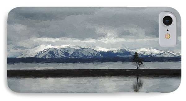 Reflections In Lake Yellowstone IPhone Case by Jayne Wilson