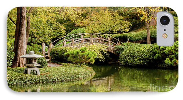 IPhone Case featuring the photograph Reflections In The Japanese Garden by Iris Greenwell