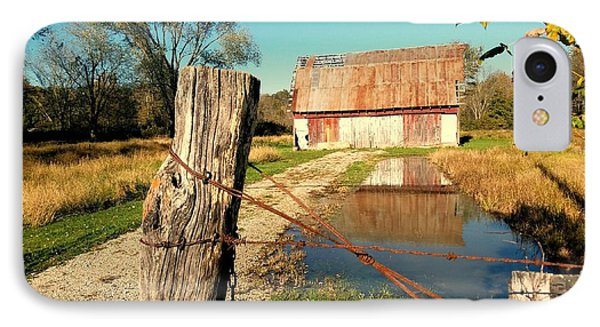 Reflections Of An Old Barn Brown County Indiana IPhone Case