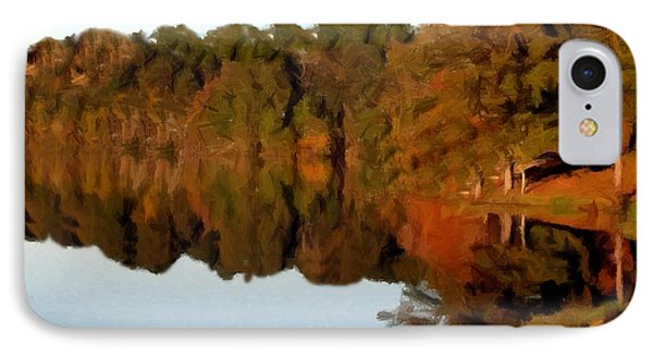 Reflections Of A Pennsylvania Autumn IPhone Case by David Dehner