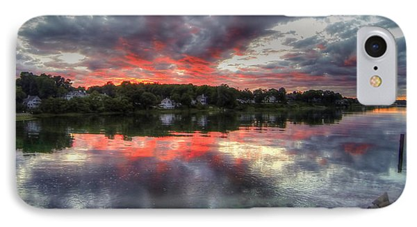 Reflections Of A Summer Sky IPhone Case by Adrian LaRoque