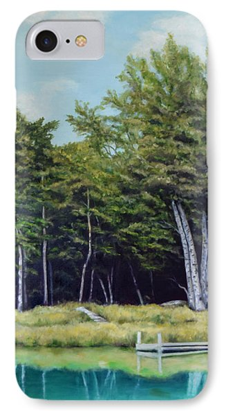 IPhone Case featuring the painting Reflections Of Birches by Sandra Nardone