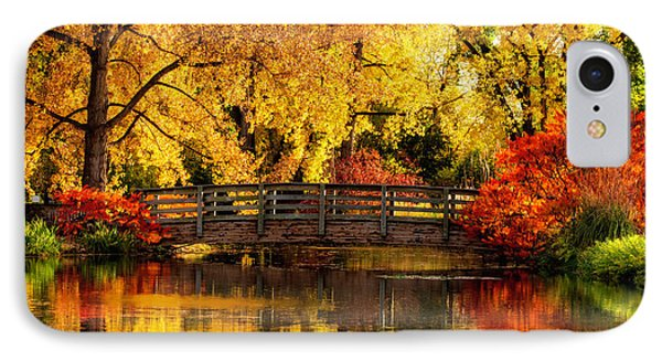 Reflections Of Fall IPhone Case by Kristal Kraft