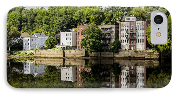 Reflections Of Haverhill On The Merrimack River IPhone Case by Betty Denise