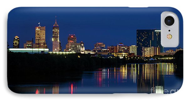 IPhone Case featuring the photograph Reflections Of Indy - D009911 by Daniel Dempster