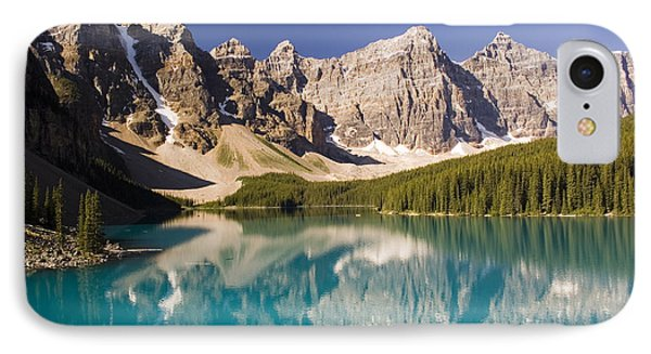 Reflections Of Moraine Lake IPhone Case by Andrew Serff