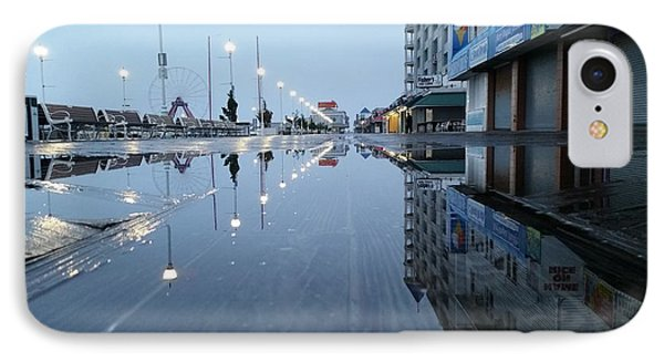 Reflections Of The Boardwalk IPhone Case by Robert Banach