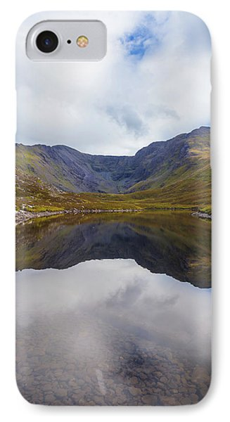 IPhone Case featuring the photograph Reflections Of The Macgillycuddy's Reeks In Lough Eagher by Semmick Photo
