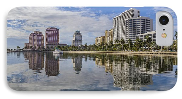 Reflections Of West Palm Beach IPhone Case by Debra and Dave Vanderlaan
