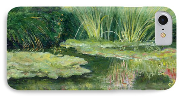 Reflections On Monets Lily Pond IPhone Case by Tara Moorman
