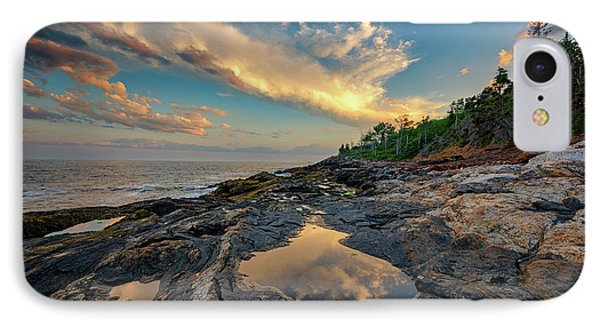 Reflections On Muscongus Bay IPhone Case by Rick Berk