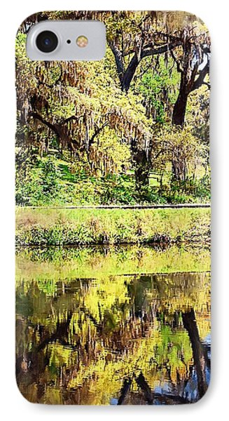 IPhone Case featuring the photograph Reflective Live Oaks by Donna Bentley