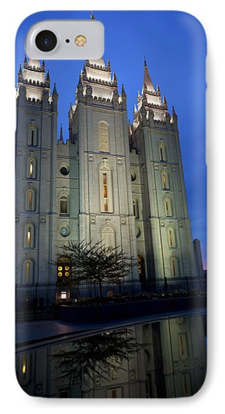 Reflective Temple IPhone Case by Chad Dutson