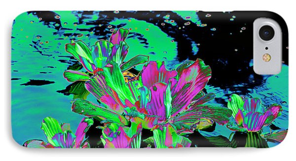 Reflexion Of Floating Flowers IPhone Case by Don Wright