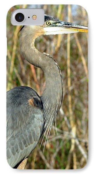 Regal Heron Phone Case by Marty Koch