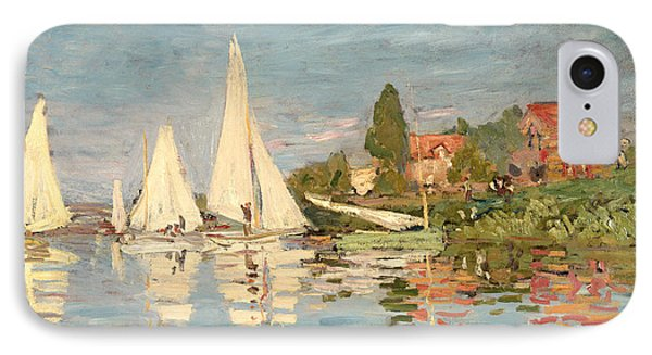 Regatta At Argenteuil IPhone Case by Claude Monet