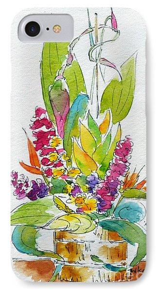 Regatta Tropical Floral IPhone Case by Pat Katz