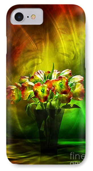 IPhone Case featuring the digital art Reggae Tulips by Johnny Hildingsson