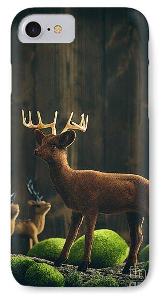 Reindeer IPhone Case by Amanda Elwell