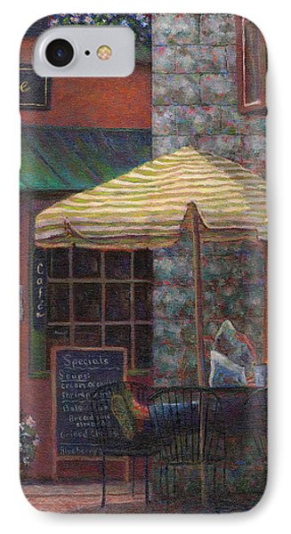 Relaxing At The Cafe Phone Case by Susan Savad