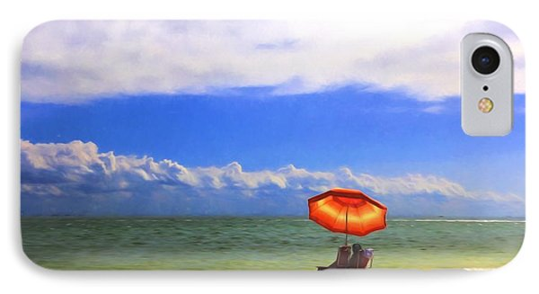 IPhone Case featuring the digital art Relaxing On Sanibel by Sharon Batdorf